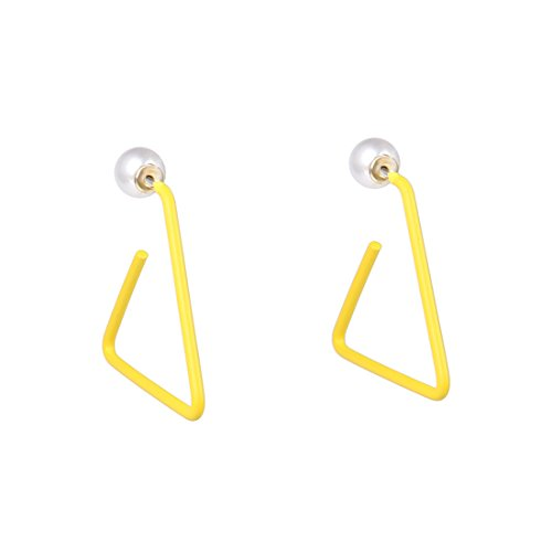 Nouveaux Hot simples européens et américains Mode Triangle Boucles d'oreilles femelle Tempérament Boucles d'oreilles (Jaune)