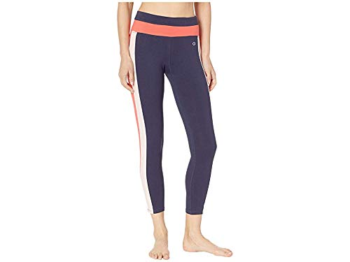 Champion Women's Authentic 7/8 Leggings Imperial Indigo/Groovy Papaya Medium 24.5