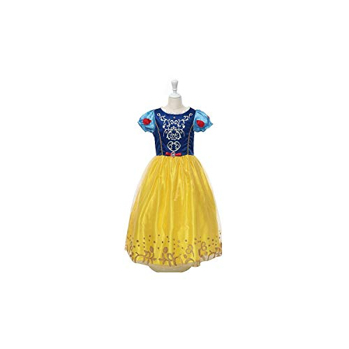 Girl Costume Christmas Anna Elsa Cosplay Princess Elsa Dress for Birthday Party,As Picture18,5 -