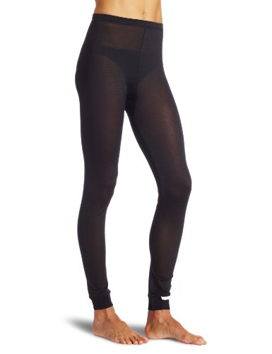 Terramar Women's Thermasilk Pointelle Pant (Black, Medium)