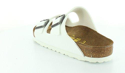 Birkenstock Arizona Femmes Blanc Cuir Chaussures Sandales Pointure EU 36