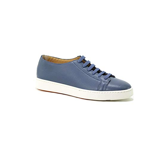 Mbcn20842ba6eaydz35 Blu Pelle Uomo Santoni Sneakers Xgx4f0nw
