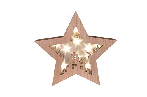 Wooden Star Shadow Box | Starry Night LED Christmas Hanging