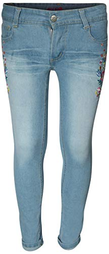('dELiAs Delia's Girls' Denim Jeans with Embroidered Flowers (16, Light Blue)')
