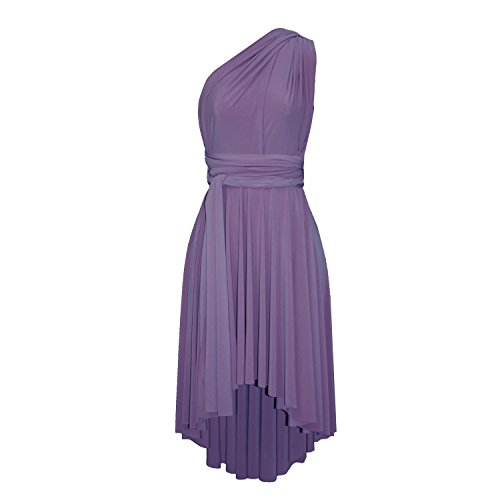 Dusty Violet - E K Infinity Dress Convertible Bridesmaid Multi Way Gown Plus Size Prom High Low Skirt-Dusty Violet-XS-m
