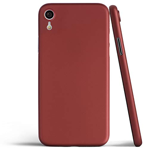 totallee Thin iPhone XR Case, Thinnest Cover Ultra Slim Minimal - for Apple iPhone XR (2018) (Red)