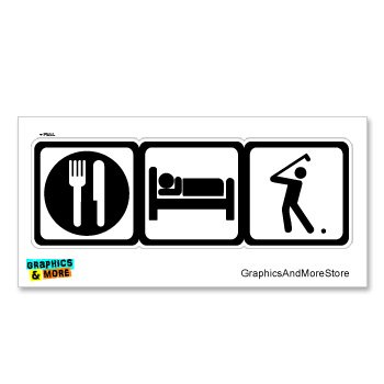 Sleep Golf Golfing Golfer Symbols