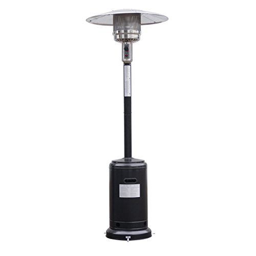 Giantex Steel Outdoor Patio Heater Propane Lp Gas W/accessories (Black)