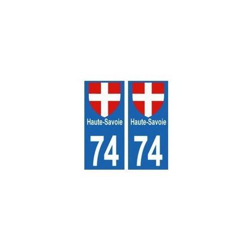 74 Haute-Savoie autocollant plaque - droits