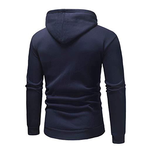 Interlock Turtleneck Cotton Print (QBQCBB Mens' Autumn Winter Pullover Long Sleeve Letter Print Hoodie Sweatshirt(Navy,XL))