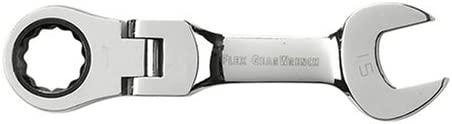 GearWrench 9554 13mm Stubby Flex-Head Combination Ratcheting Wrench