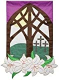 Evergreen Decorative Garden Flag View of Easter