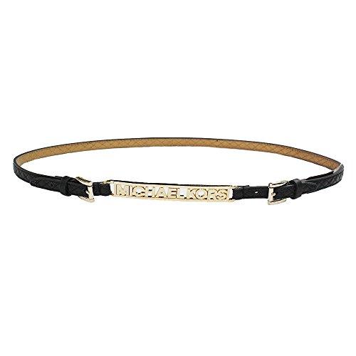 Michael Kors Women's Quilted MK Plaque Belt - Buy Online