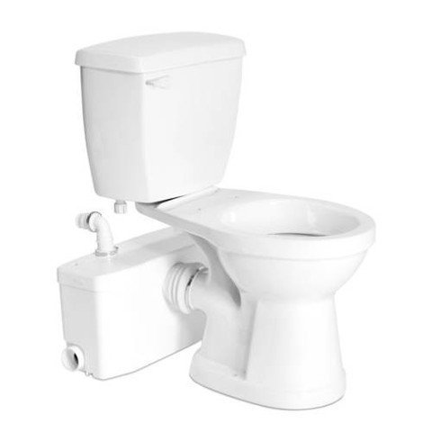 Saniflo SaniPlus: Macerating Upflush Toilet Kit (with Elongated (Saniplus Macerating Pump)