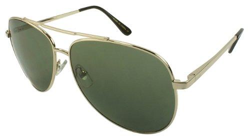Edge I-Wear Classic Vintage Style Metal Aviators Sunglasses with Gradient Lens 21062S-AP-3(G W/G15 - Style Men's Coachella