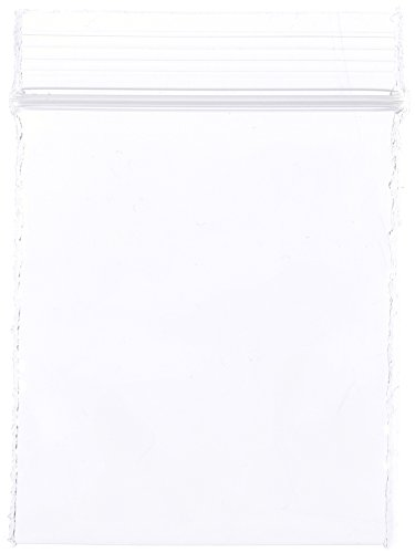 "Dazzling Displays PBR-1502-100 Reclosable Plastic Bag 1-1/2""x2"" 2mil Zip Lock pk/100"