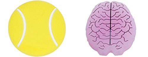 Gamma Sports String Things Vibration Dampeners(2-Pack) - Tennis Ball/Brain