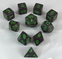 Earth Elemental and Speckled Dice Set 10pc Set in (Dice Set 10pc Set In Tube)