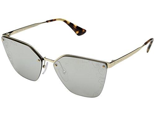 Prada Women's 0PR 68TS Pale Gold/Silver Mirror/Hibiscus Print One - Sunglasses Mirrored Prada