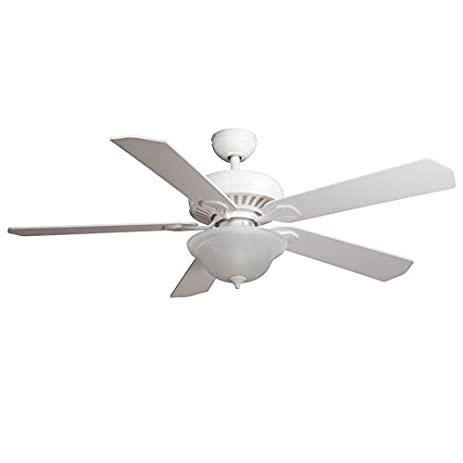 harbor breeze crosswinds 52in white downrod or flush mount indoor ceiling fan with light