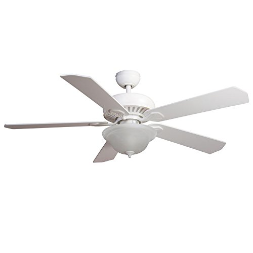 Harbor Breeze Crosswinds 52-in White Downrod or Flush Mount Indoor Ceiling Fan with Light Kit and Remote