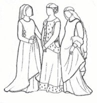 Amazon com: 14th and 15th Century Sideless Gowns Pattern