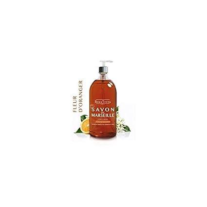 Beau Terra - Jabón de Marsella de flor de naranjo (para cuerpo y manos,