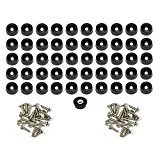 1000 Small Round Rubber Feet W/ SCREWS - .250 H X .687 D - Made in USA