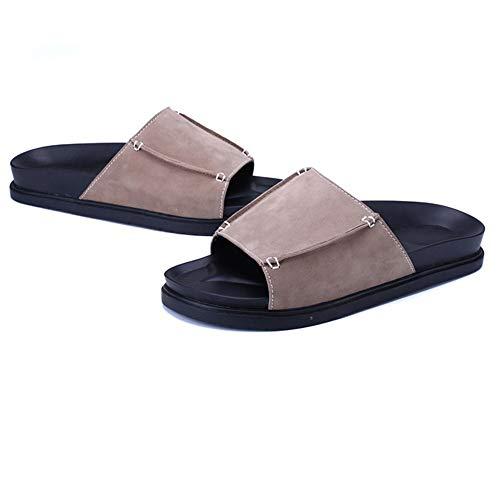 Il Estivo Pantofola Uomo Da Per spiaggia 1 3 da Wagsiyi Scarpe Pantofola Colore Tempo Libero Traspirante 39 Marrone Spiaggia Da Dimensione pantofole EU Pantofole Marrone 055qv7