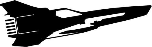 Battlestar Galactica Viper Mark II MKII Fighte Vinyl Die Cut Decal Sticker For Car Truck Motorcycle Windows Bumper Wall Home Office Decor Size- [8 inch/20 cm] Wide and Color- Gloss White