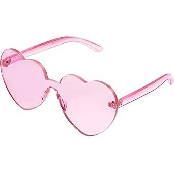 Maxdot Heart Shape Sunglasses Party Sunglasses (Light Pink)