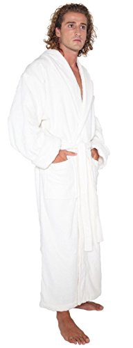Organic Terry Robe (Arus Men's Organic Cotton Full Ankle Length Long Turkish Terry Cloth Bathrobe Robe, Cream, S/M)