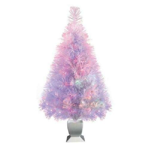 Small Conical Christmas Tree Beautiful Lighted Colorful Tree New Year Eve Xmas
