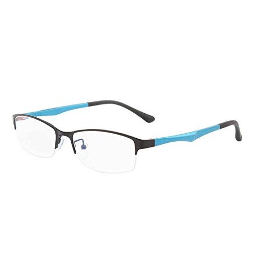 myopes Noir demi Mâle en résine métal Femme cadre Bleu lunettes lentille rétro en trame Huicai mode lunettes pFZEqYndw