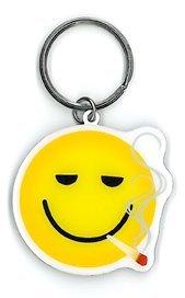 NSI - Smokin Smiley - Metal Keychain