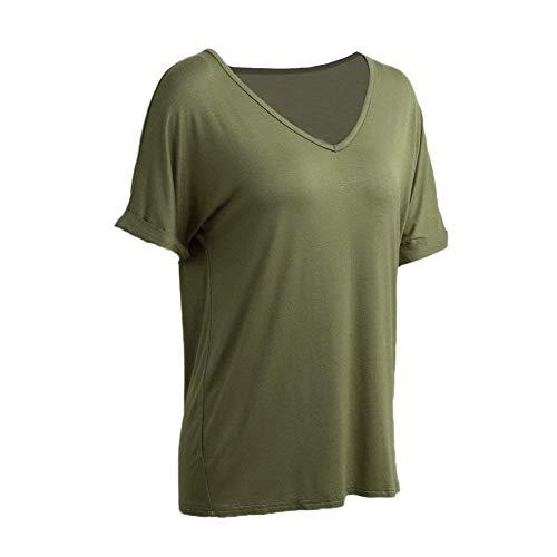 Mode Cou V Manches Tshirt Haut Femme Manche De Et Bouffant Top Elgante Shirt Style Casual Branch Uni Tee Qualit Gr Courtes Shirt Spcial Bonne wnzqI8X