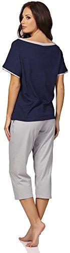 Italian Fashion IF Pijamas para Mujer Elisabet 0225 Azul Oscuro