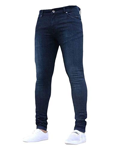Forma Leisure Stile Denim A Vintage Skinny Regular Fit Fashion Jeans Abbigliamento Slim Pants Da Di Dunkelblau Pantaloni Stretch Uomo Yawx8CqxP