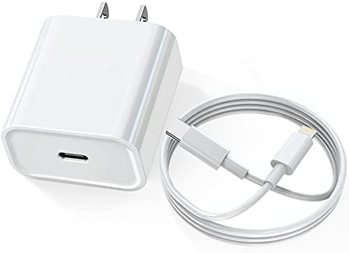 iPhone 12 Charger, KOZOPO USB C Wall Charger Fast Charging 20W PD Adapter ETL Listed with 6FT Type-C to Lightning Cable[Apple MFi Certified] Compatible with iPhone 12 11 Pro Max Mini XS XR X 8 Plus