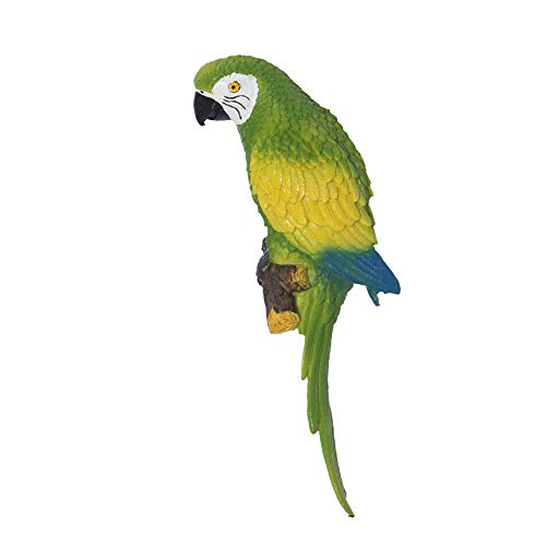FENFOUBA Wall Decoration,3D Three-Dimensional Resin Parrot Sculpture,Indoor and Outdoor Garden Hanging Piece - 4 Styles to Choose from (Color : A)