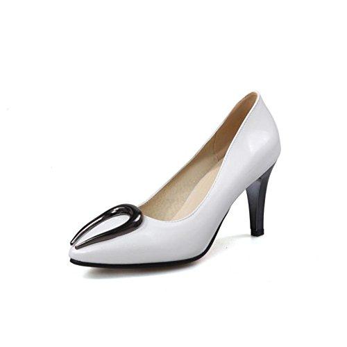 Dedo Zapatillas 3 Pie eur42uk85 Del Nvxie Corte uk 5 Tacón Señoras 36 Estilete Mujeres Fiesta Puntiagudo Eur Rojo 4 Vestir Zapatos White Alto Blanco Boda qCXf5C