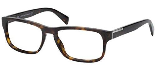 Prada PR07PV Eyeglass Frames 2AU1O1-56 - Havana - Prada Models Male
