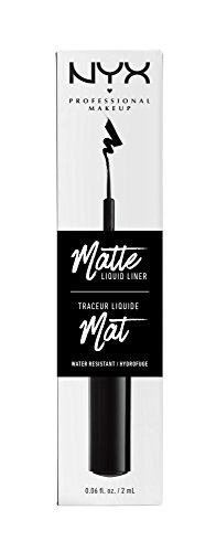 NYX PROFESSIONAL MAKEUP Matte Liquid Liner, Black, 0.06 Ounce