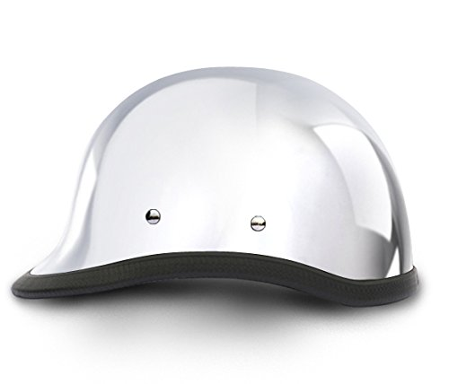 Hawk Chrome Novelty Motorcycle Helmet (Size 2XL, XX-Large) (Helmet Hawk Novelty)