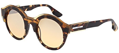 McQ - MQ0003S, Round, acetate, men, TRANSPARENT BROWN LIGHT HAVANA/BROWN(004), 49/23/140 (Mcq Uk)
