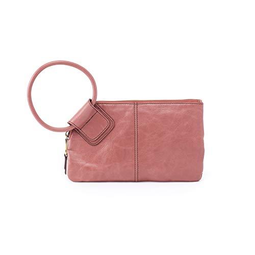 (Hobo Women's Leather Sable Wristlet Clutch Wallet (Burnished Rose))