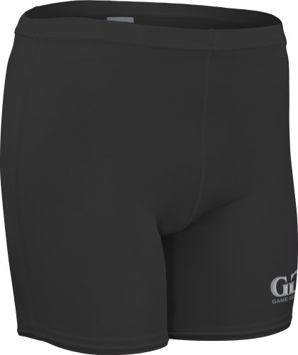 Youth Boy's and Girl's Skin Tight Elastic, Dry Fitness Compression Short-Baseball, Gymnastics, Football-Made with Water and Odor Resistant Material-Colors Include Black, Red, and Blue-Sizes YS, YM, YL (Youth Small, Black)
