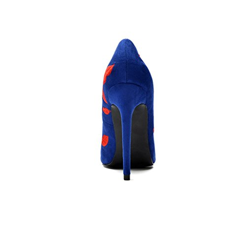 9cm Comfortable Heels Sexy 10cm Blue Elegant Sandals Pointed Mouth High 7cm Shoes Shallow Wedding Women Fashion vnxvw