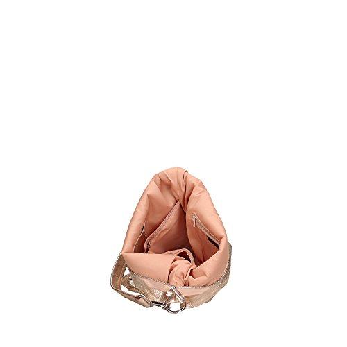 Made 33x35x15 Pelle Cm Aren in a Bag Borsa Donna Rosa Vera in Italy da Spalla Shoulder wxFTvO