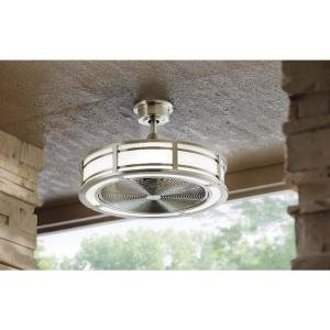 Brette 23 In Led Indoor Outdoor Brushed Nickel Ceiling Fan Ebay